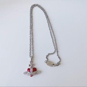 Vivienne Westwood Diamanté Heart Pendant